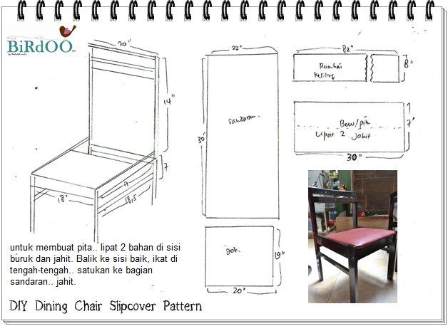 Dining Chair Slipcover Pattern
