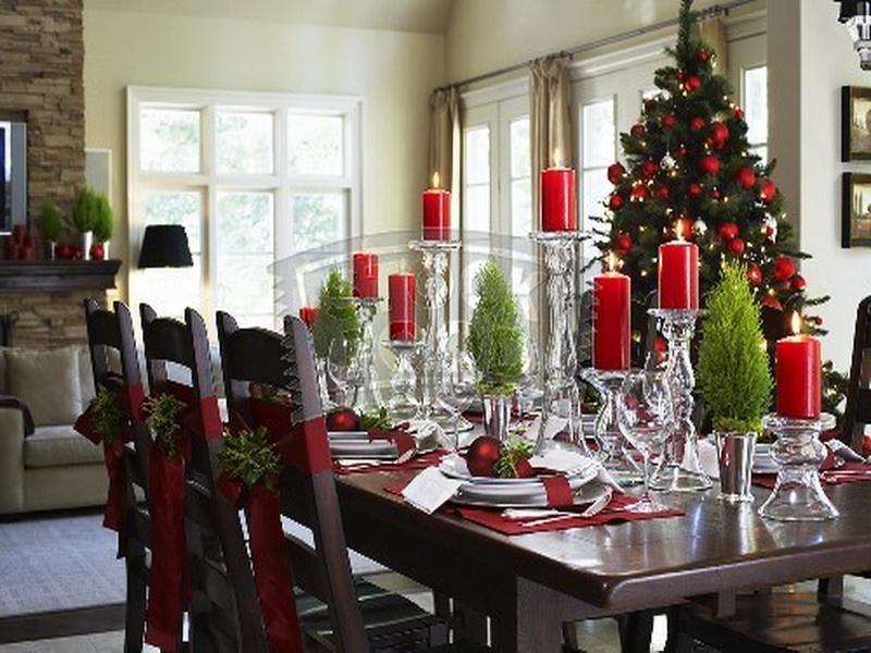 Dining Room Table Christmas Decoration Ideas