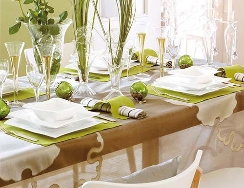Dining Room Table Setting - Large And Beautiful Photos. Photo To