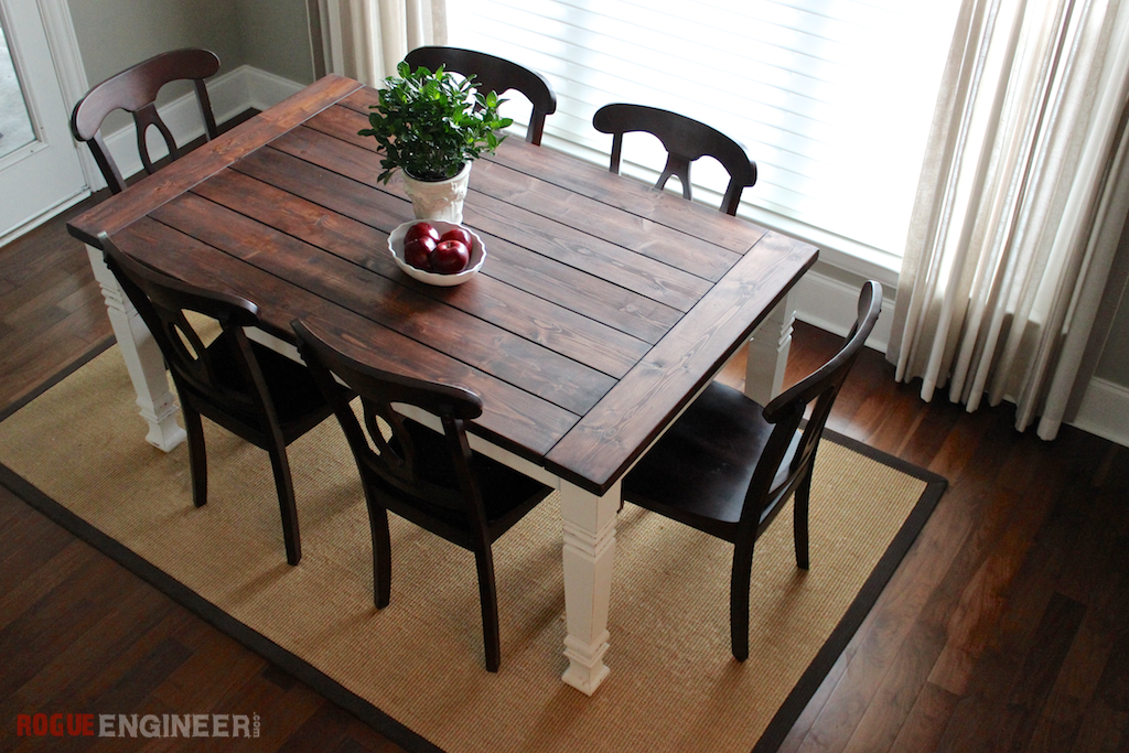 Rustic dining room table plans large and beautiful for Dining room table designs