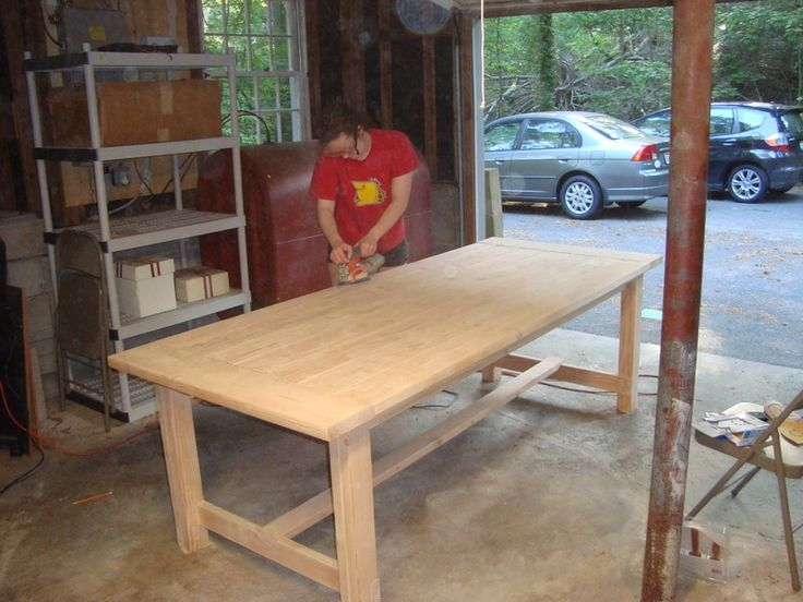 Diy rustic dining table Photo - 1
