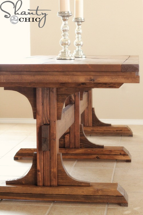 Diy wood dining table Photo - 1