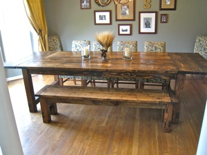 Do it yourself dining room table Photo - 1