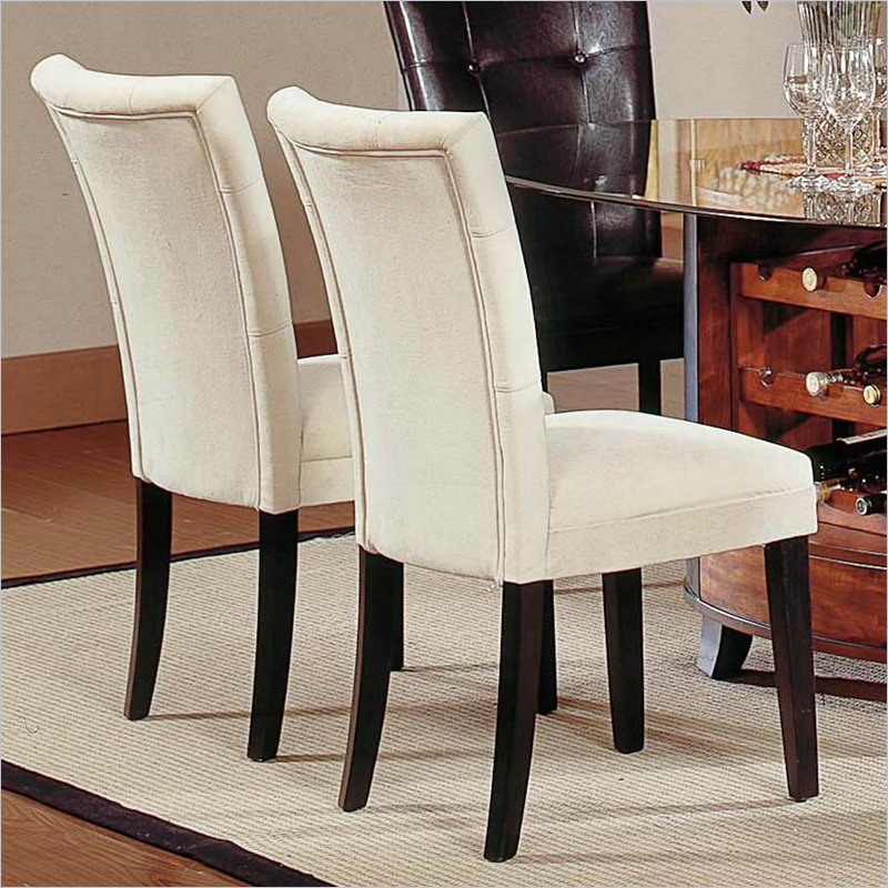 Fabric covered dining room chairs Photo - 1