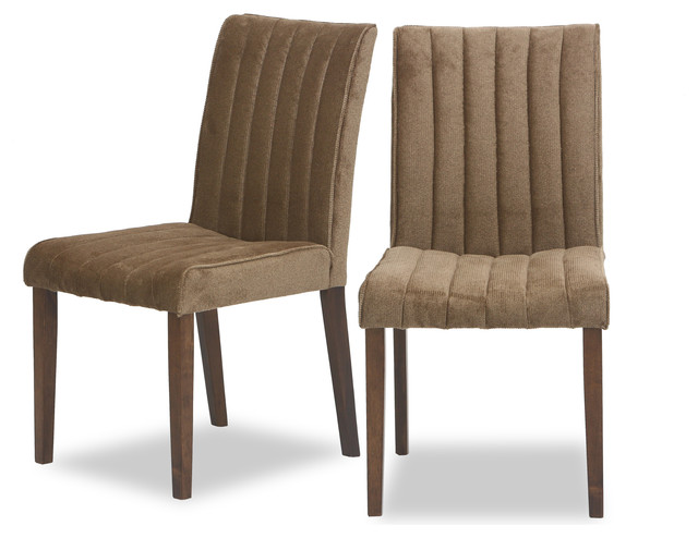 Fabric upholstered dining chairs Photo - 1