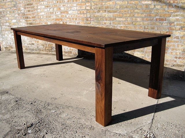 Build your own dining room table large and beautiful for Rustic dining room table plans