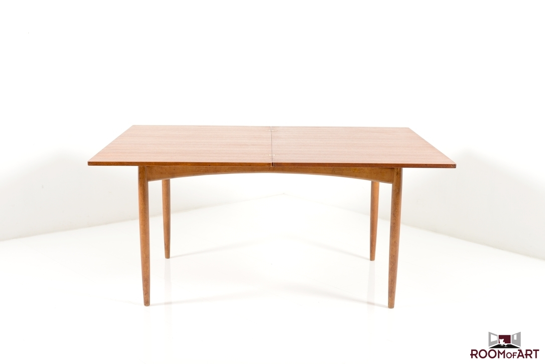 Mid century modern dining room table large and beautiful for Mid century modern dining table