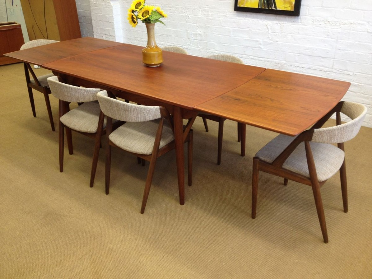 Danish modern walnut dining chairs - Danish Modern Dining Table