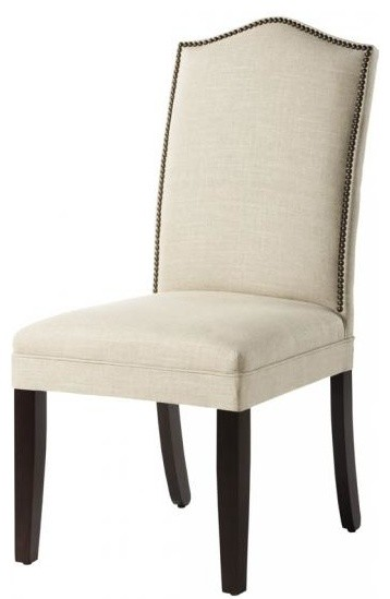 Upholstered nailhead dining chairs - large and beautiful photos ...