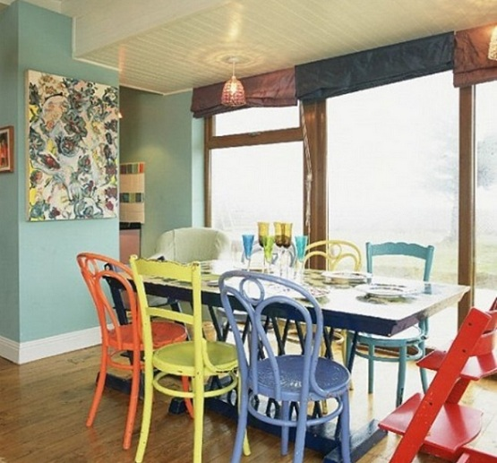 Painted dining room chairs Photo - 1