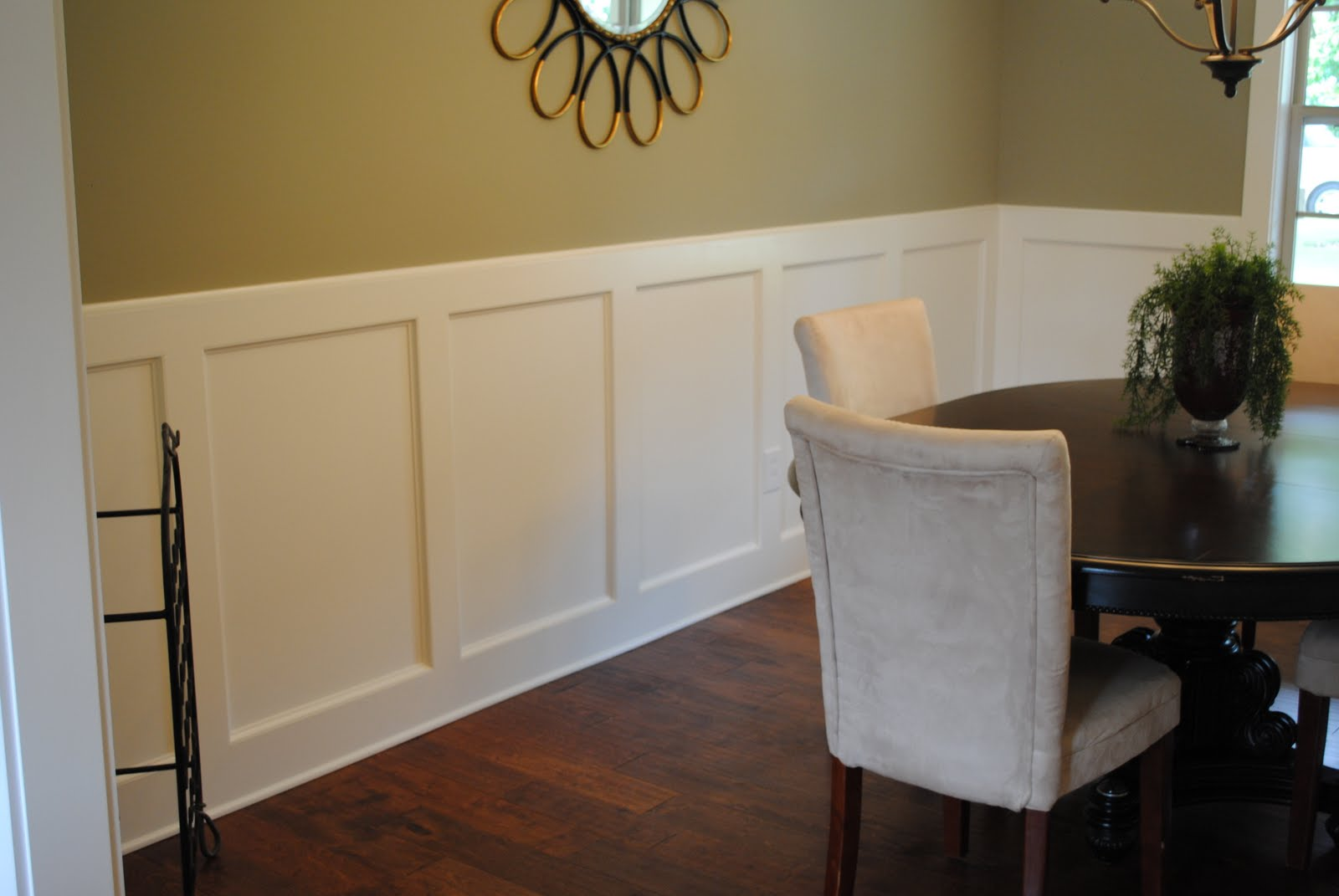 Dining Room Wainscoting Ideas By Paint With Chair Rail Large And Beautiful