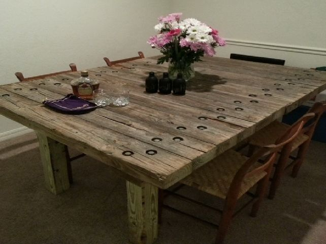 Delightful Reclaimed Wood Dining Room Table ... Part 26