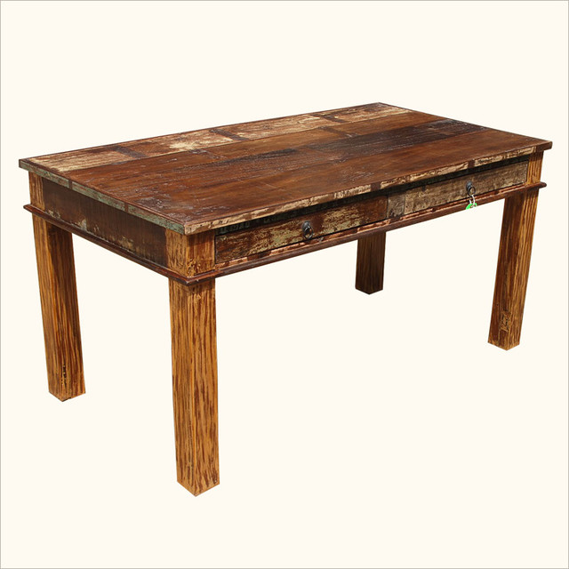 reclaimed wood dining room tables photo 1