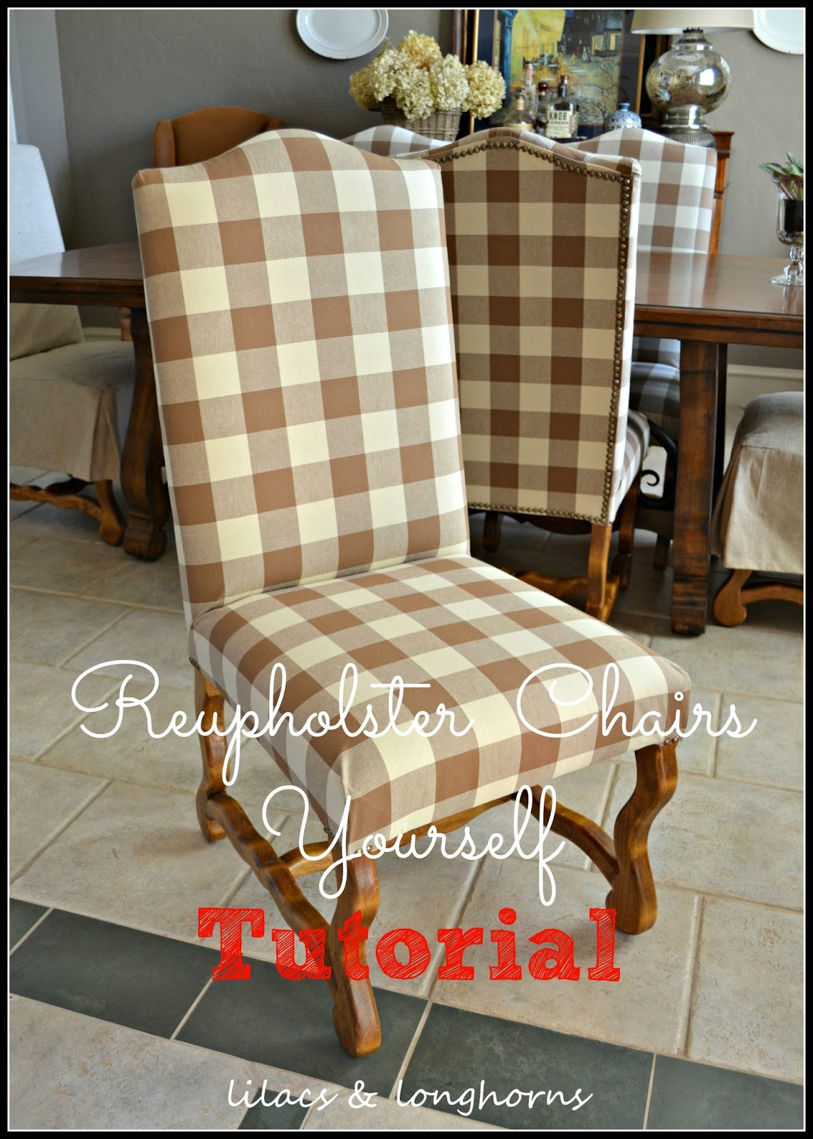 Reupholster a dining room chair Photo - 1