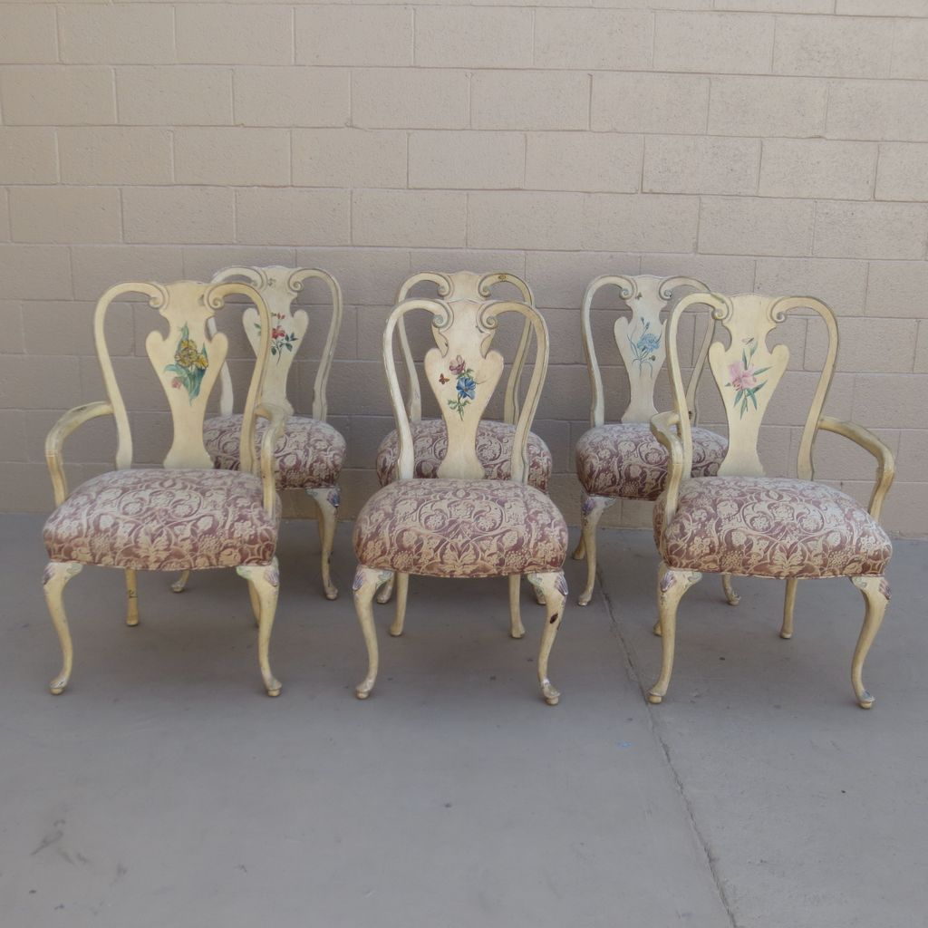 Shabby chic dining room chairs Photo - 1