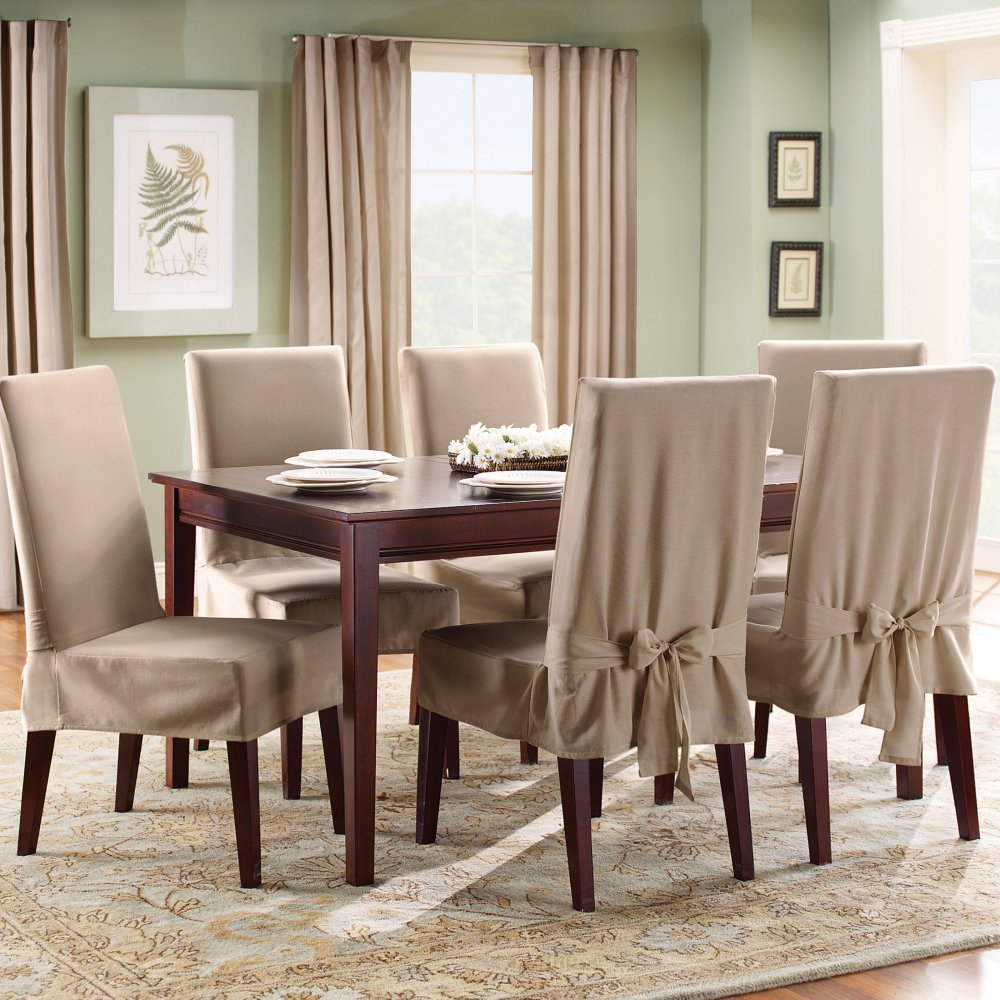 Slipcovered Dining Chairs Room