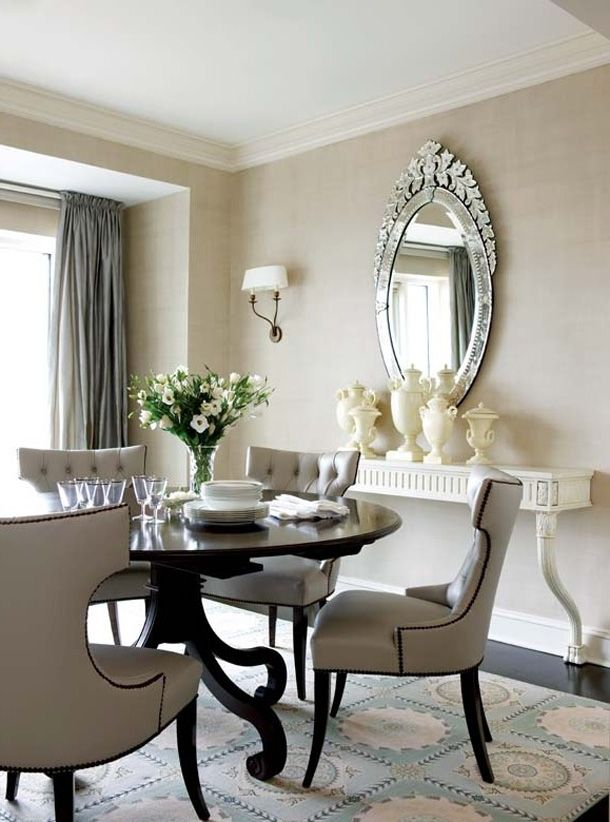 Small elegant dining room tables large and beautiful for Tiny dining room ideas