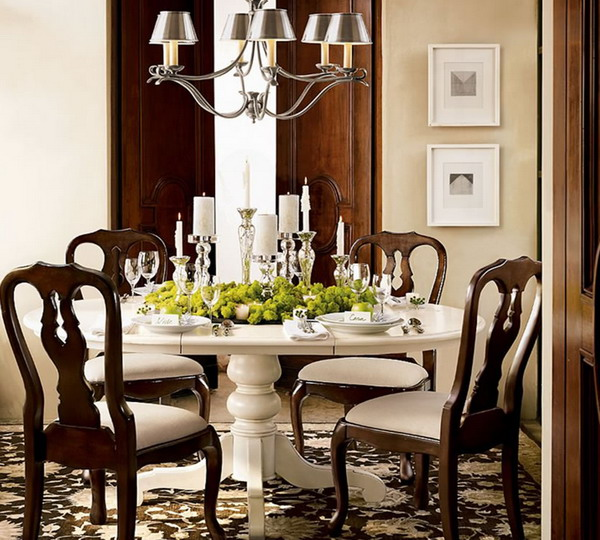 Small dining room decorating ideas large and beautiful for Traditional dining room decorating photos