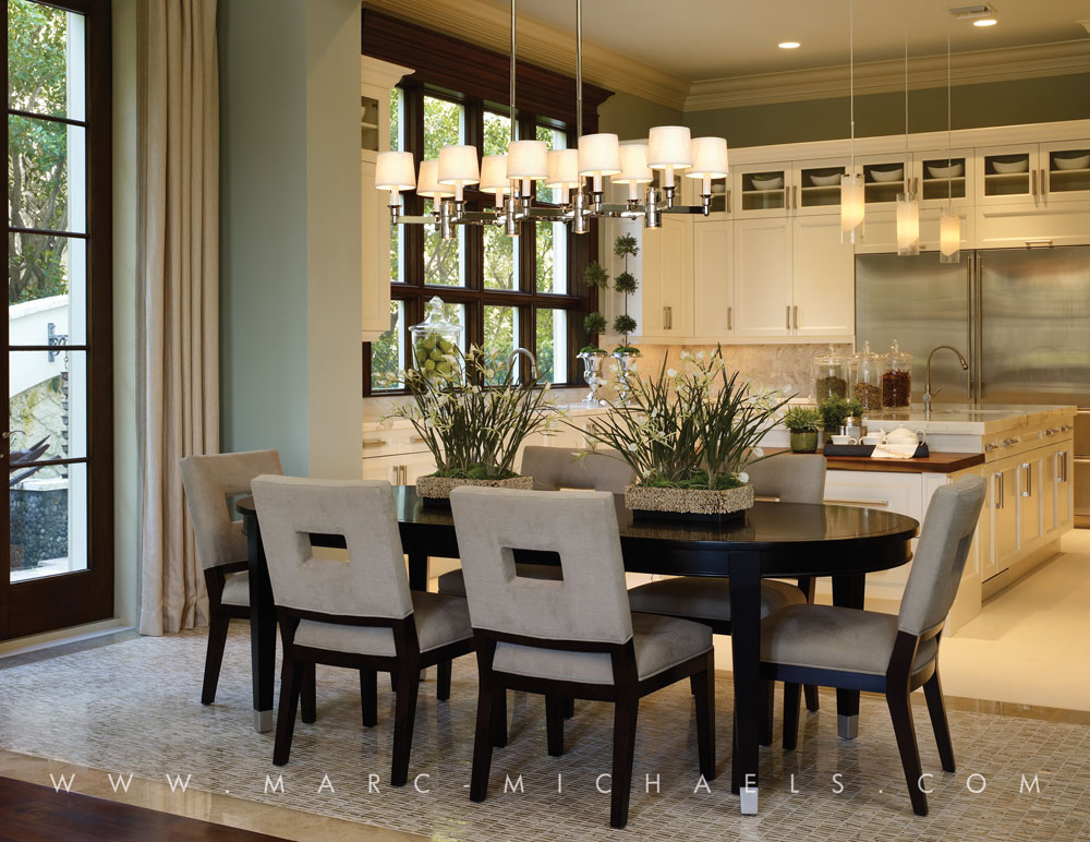 Transitional dining room ideas large and beautiful for Kitchen dining room decor