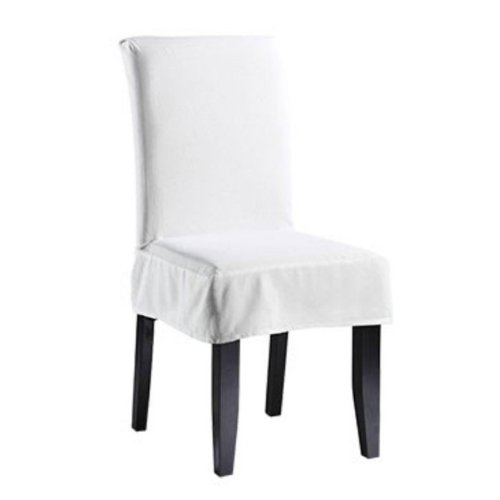 White dining room chair covers Photo - 1