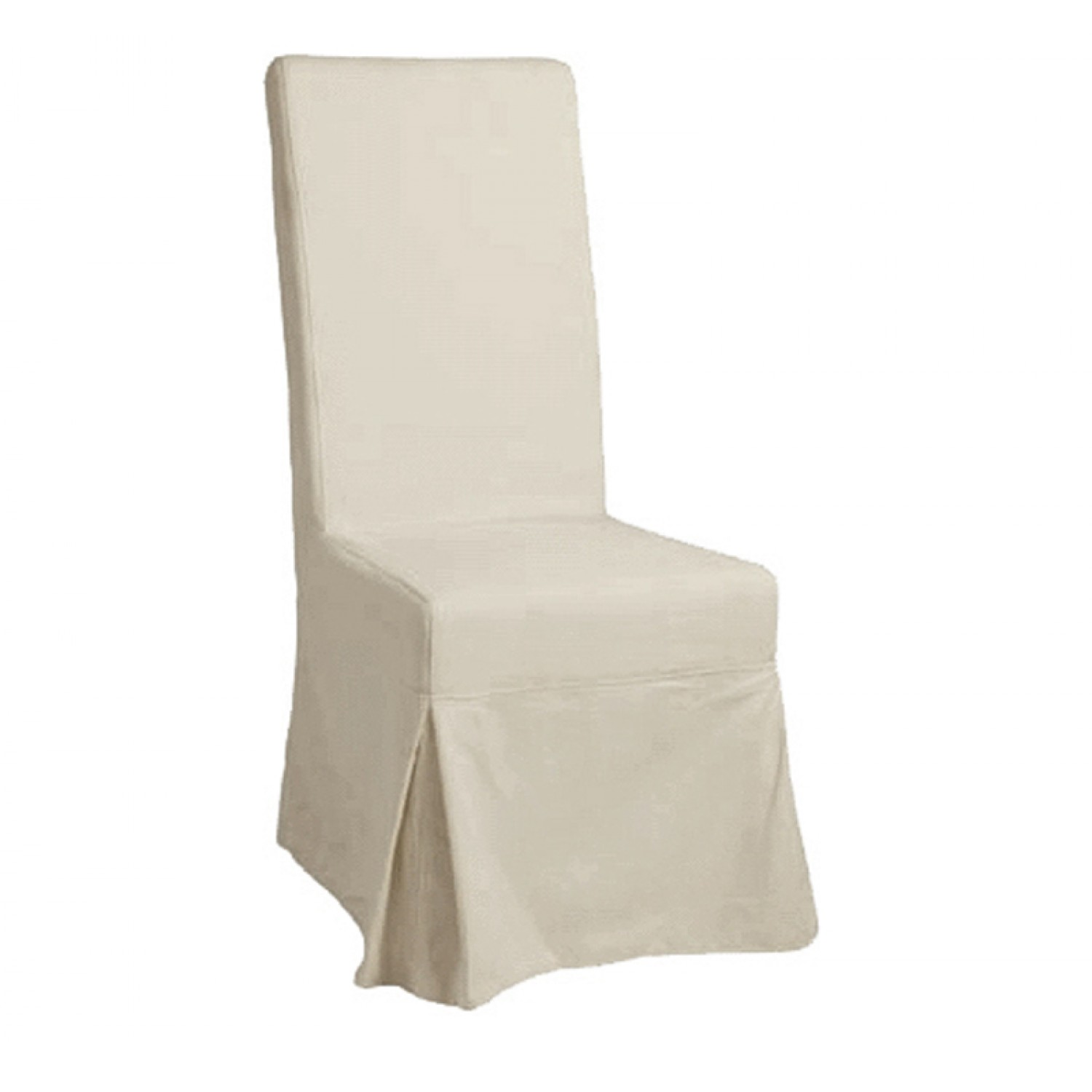 White slipcovered dining chair Photo - 1