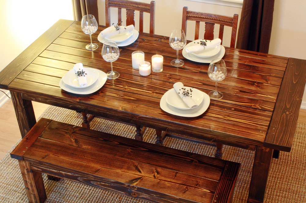 Wood dining table plans Photo - 1