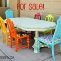 Colorful dining room sets Photo - 1