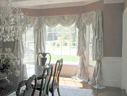 Dining room bay window treatments - large and beautiful photos. Photo ...