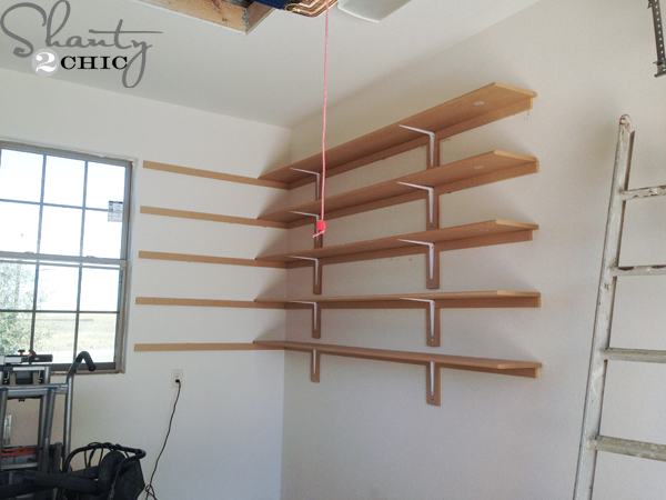 Easy shelves for garage Photo - 1