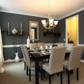 Gray dining rooms Photo - 1