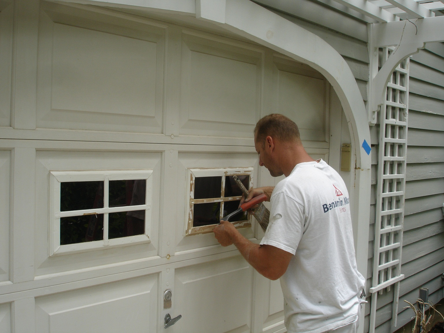 how to repair garage door panels large and beautiful