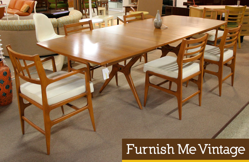 Mid Century Modern Dining Room Set Photo   1