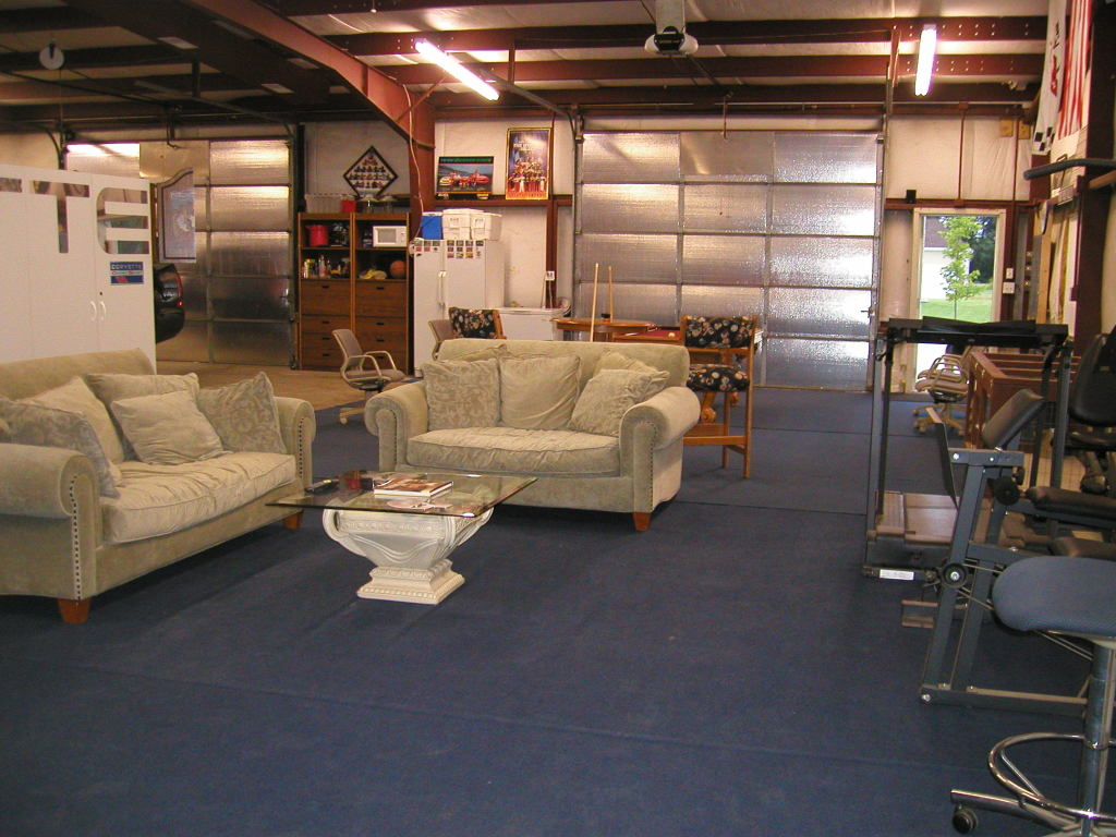 Turn garage into game room large and beautiful photos for Living room garage