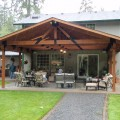 Covered backyard patio Photo - 1