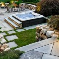 Hot tub backyard design Photo - 1