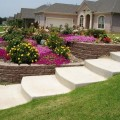 Landscape design for sloped backyard Photo - 1