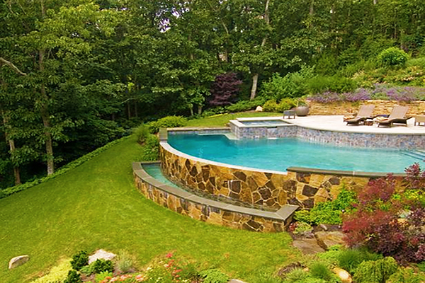 Sloped backyard ideas - large and beautiful photos. Photo ...