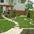 Square backyard landscaping ideas Photo - 1