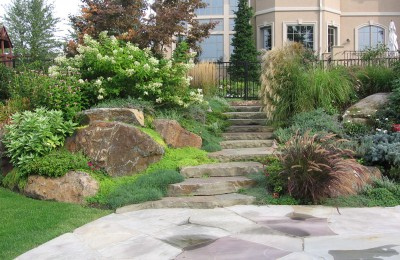Stone backyard landscaping Photo - 1