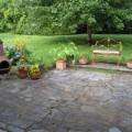 Stone backyard patio Photo - 1