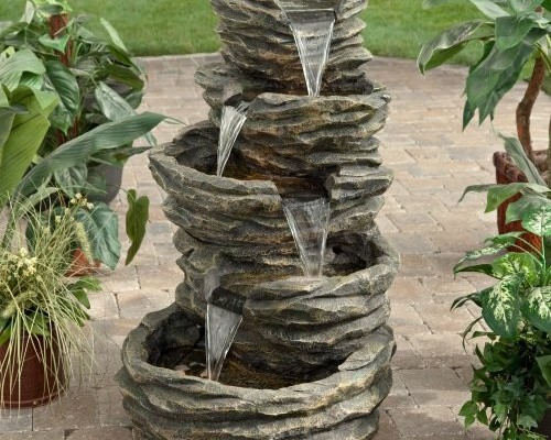 Waterfall fountains for backyard Photo - 1