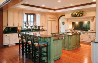 Kitchen designs with islands for small kitchens Photo - 1