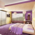 Purple color schemes for bedrooms Photo - 1