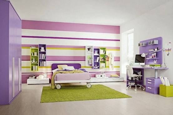 Unique teenage bedroom ideas large and beautiful photos - Pareti colorate per camerette ...