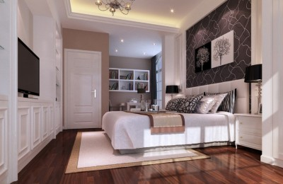 White bedroom walls Photo - 1