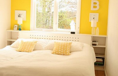 Yellow walls bedroom Photo - 1