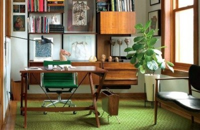 wood office furniture for home photo
