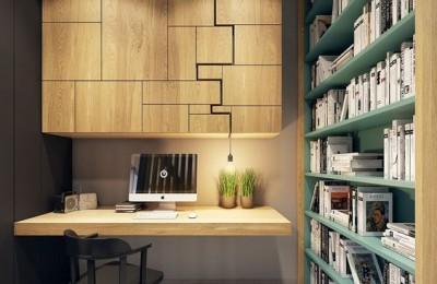 modern home office design photo