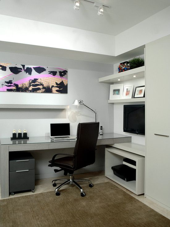 modern home office design photo - 2