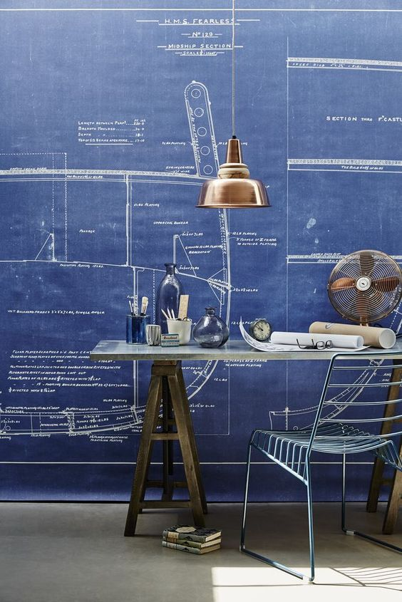 home office wall ideas photo - 1
